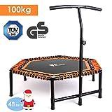 amzdeal Fitness Trampolin Indoor Trampolin für Jumping mit höhenverstellbarem T-förmigem...