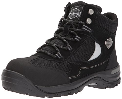 HARLEY-DAVIDSON FOOTWEAR Women's Waites CT Industrial Shoe, Black, 7.5 Medium US