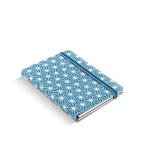 Filofax 115043 Notizblöcke Pocket Impressions, blau/weiß