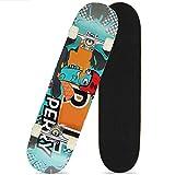 Z-Meng Zhong Skateboards, monopatín profesional completo para niños, niñas, jóvenes, principiantes, 31 x 8 pulgadas