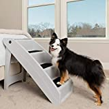 PetSafe CozyUp Folding Pet Steps - Foldable Stairs for Dogs and Cats - Best for Small to Large Pets - Extra Large, Grey
