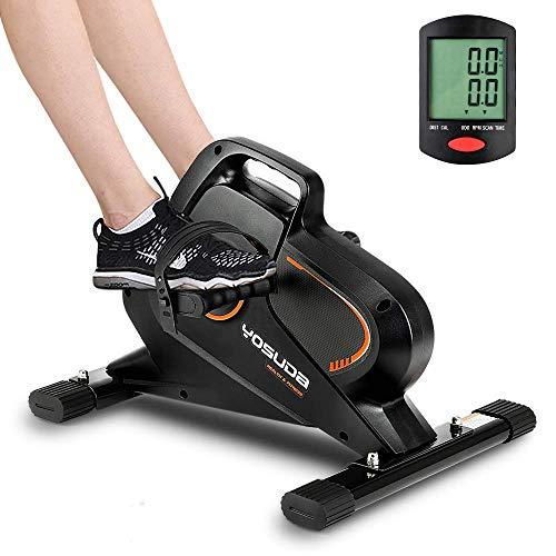 YOSUDA Under Desk Bike Pedal Exerciser - Magnetic Mini Exercise Bike for Arm/Leg Exercise, Desk Pedal Bike for Home/Office Workout
