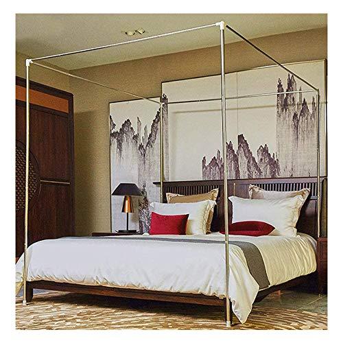 YOGANHJAT Moskitonetzhalter Vier Eckbett, Edelstahl Baldachin Moskitonetz Baldachin Rahmen Gestell Bettüberdachung für Twin/Full/Queen/King Size/California King,30mm,1.8×2m Bed