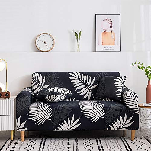 Funda de sofá elástica geométrica Funda de sofá Fundas de sofá universales para Sala de Estar Protector de Muebles de Hotel de Boda A24 2 plazas