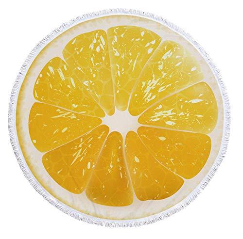 Vanzelu watermeloen oranje microvezel rond strandlaken fruit dikke douche badhanddoeken zomer zwemmen cirkel mat handdoek met kwasten 550 g