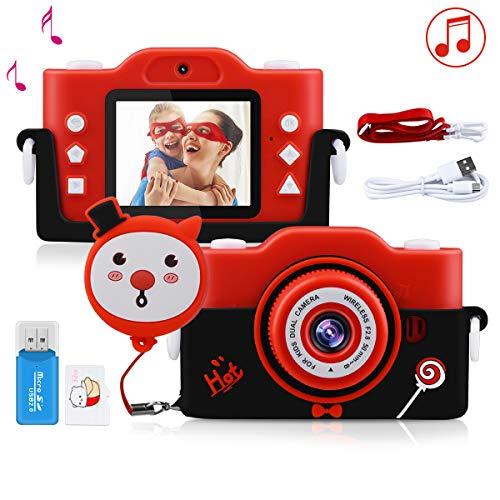 """Kinder Kamera, 2.0""""Display 1080P HD 40MP Digitalkamera für 4-14 Jahre alt mädchen und Jungen, Anti-Drop Fotoapparat Kinder für Geburtstagsspielzeug Geschenke mit MP3-Player Silikonhülle und 32GB Card"""