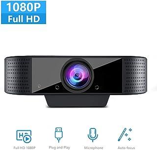 【急速出荷】ウェブカメラ WEBカメラ 高画質 1080P HD内蔵マイク付きPCカメラ オンラインビデオ教育用のコンピュータウェブカメラ、ビデオ【在宅勤務必要】 動画配信 家庭 会議 ゲーム実況 授業カメラ ビデオ通話用対応 webカメラ WinXP/Vista / Win7 / Win8 / Win10 mac pc skype対応!高画質ウェブカメラ 1年間メーカー保証
