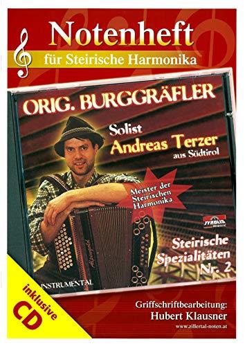 Original Burggräfler; Solist Andreas Terzer: Notenheft in Griffschrift für die Steirische Harmonika inkl. CD mit Hörbeispielen