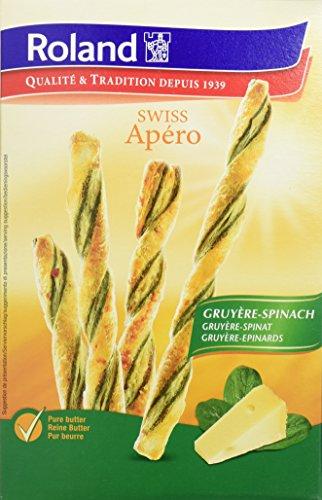 Roland Swiss Apero Gruyere Spinat, 12er Pack (12 x 100 g)