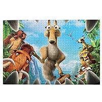 1000ピース ジグソーパズルアイス?エイジ (2) 環境保護、無臭、知的開発、親子ジグソーパズル!良質な木製パズル、家庭レジャーと娯楽のジグソーパズル!サイズ75.5*50.3 Cm