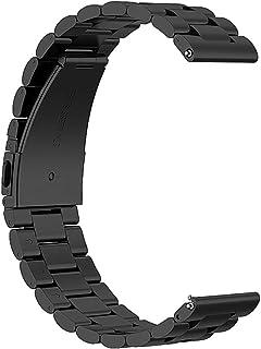 Hemobllo Cinturino per orologio da 42 mm cinturino in acciaio colorato con tre cinturini compatibile per amazfit gtr (nero)