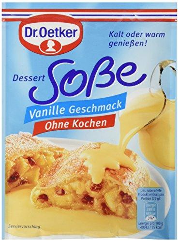 Dr. Oetker Sosse ohne Kochen Vanille-Geschmack, 15er Pack (15 x 250 ml Beutel)