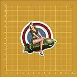 BLOUR Bomb Girl Pinup Girls Notebook Skateboard Trolley Case Mochila Mesas Libro PVCEtiqueta engo...
