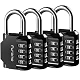 Puroma 4 Pack Combination Lock 4 Digit Padlock for School Gym...