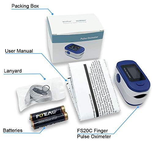 Pulsioximetro Easy Health Oximetro de Dedo y de Pulso Profesional FS20C para...