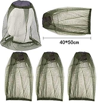 KARLOR Lot de 5 moustiquaires pour le visage, le cou et le visage - Pour apiculture en plein air, pêche, camping, activités de plein air