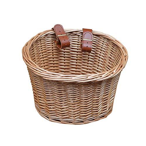 Retro rattan wicker woven scooter, walker, children's bicycle, cart, basket, cart, basket, food basket, shopping basket