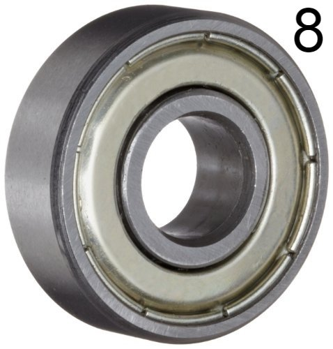 Eight (8) 608ZZ 8x22x7 Double Shielded Skateboard Bearings/Pre-Lubed