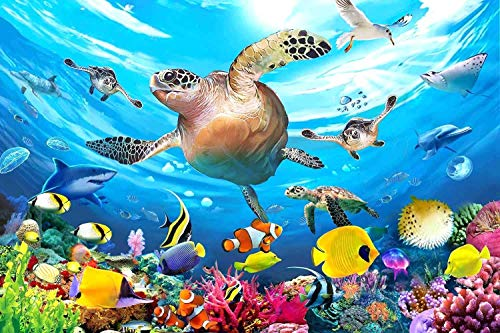100 Piece Jigsaw Puzzles for Kids 4-8 Puzzles for Toddler Ocean Puzzle Children Learning Preschool Educational Puzzles Toys for Boys and Girls