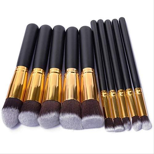 10pcs synthétique pinceau de maquillage kabuki ensemble base cosmétique mélange blush blush maquillage outil 2