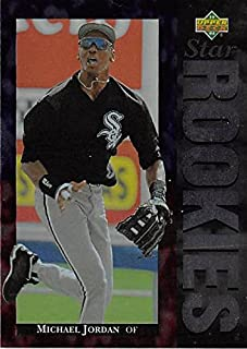 Michael Jordan baseball card (Chicago White Sox) 1994 Upper Deck #19 Star Rookies