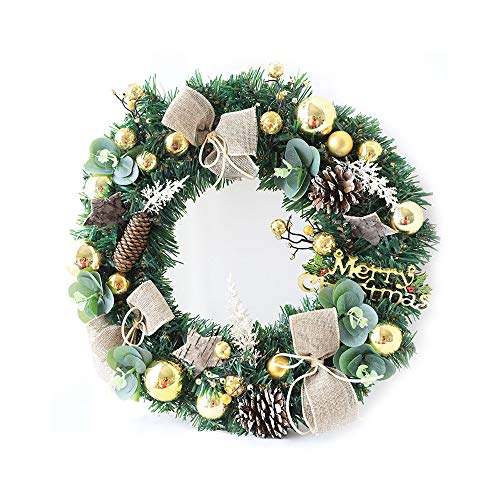NYLWSL Corona Porta Natale Handmade Hanging Retro Europa e la soglia America Pine Needles Decorazioni di Festa di Natale Corona Rattan Porta Finestra Decorazione Creativa di Corona (Dimensione : B)