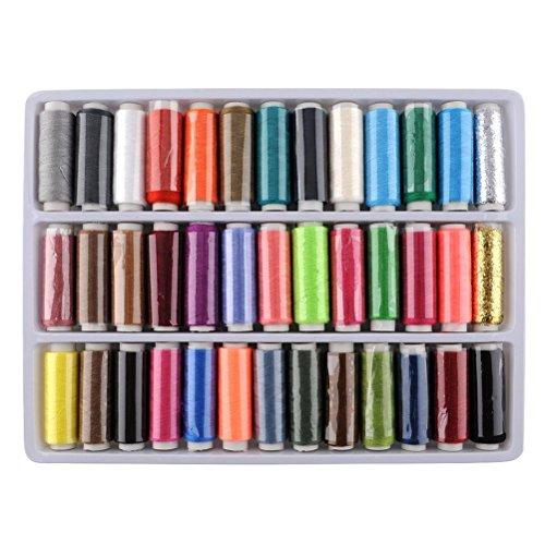 Pixnor Pack de 39 la valeur 200 verges par unité avancée couture Polyester bobine de fil
