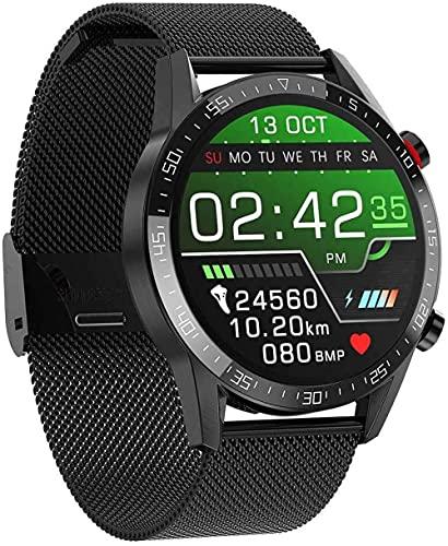1.3 pulgadas de color de los hombres reloj inteligente fitness Tracker IP68 impermeable reloj inteligente con monitor de ritmo cardíaco monitoreo del sueño podómetro-F
