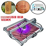 CNC Router Engraving Machine 60 X 50cm 2000MW Laser Engraving Machine DIY Kit Carving Instrument