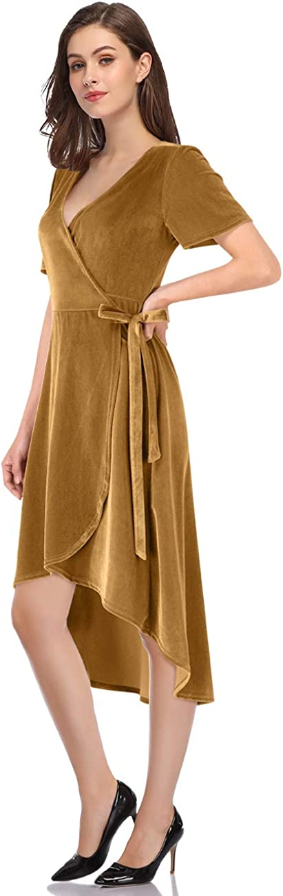 Leadingstar Women's Velvet Formal Holiday Colorado Springs Mall Party Gown Dress In stock