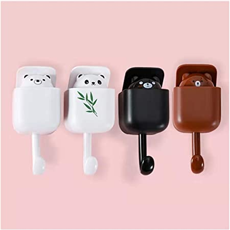 Brown+Brown 2 Pcs Small Friends Cute Squirrel Cartoon Key Holder Decorative for Wall for Hanging for Kids Coat,Phone