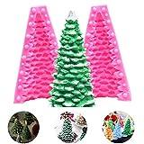 SUNSK 3D Weihnachtsbaum Form Kerzenform Seifensilikonform Fondant Form Kuchen Schokolade Backform für Weihnachtsfeier Dekoration