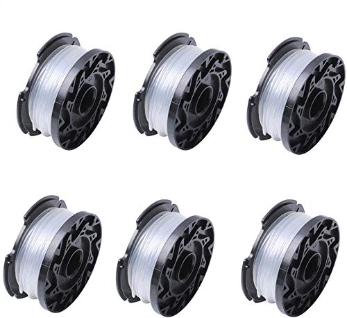Poweka Bobine de tondeuse A6481 A6485 pour Black Decker Coupe Bordures Paquet de 6