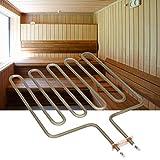 Atyhao 9KW Sauna Spa Tubo di Calore Elettrico Riscaldamento Tubolare in Acciaio Inossidabile per Accessori per stufe per Sauna Accessori per riscaldatori 230V