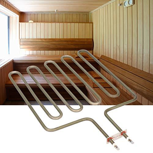 Atyhao 9KW Sauna SPA Elektro Heizrohr Edelstahl Rohrheizung für Saunaofen Zubehör 230V Heizgeräte Zubehör