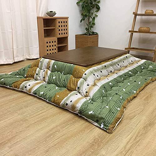 FMXYMC Fußwärmer-Couchtisch, Kotatsu-Tische im japanischen Stil, Tatami-Futon-Tisch mit beheiztem Herd, eingebetteter Heizung, weiche Decke, Teppich, klassischer Druck,B