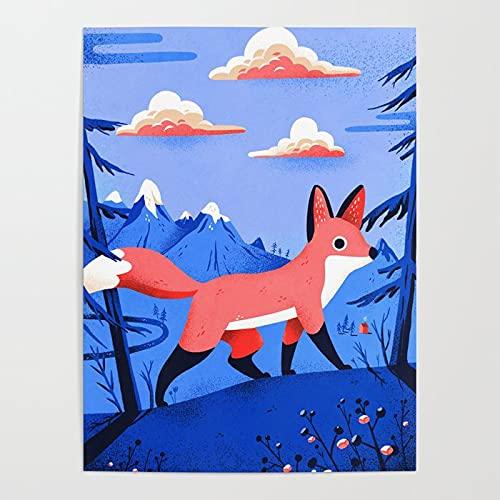 Beaxqb Pintar por Numeros para Adultos Niños Fox en el Bosque Lienzo Colorido con cepillos Decoración Decoraciones Pared LienzoArte decoración del hogar 40x50cmSin Marco