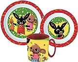Bing - Set di stoviglie per bambini con piatto, ciotola e tazza...