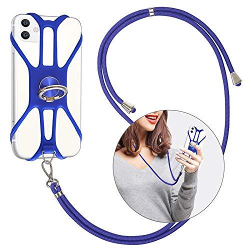 takyu Handy Lanyard, Schlüsselband Handykette Zum Umhängen Kompatibel mit iPhone Huawei Samsung Xiaomi(Blau)