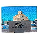 Katar Rompecabezas para Adultos, 500 Piezas de Madera, Regalo de Viaje, Recuerdo, 20.4 x 15 Pulgadas