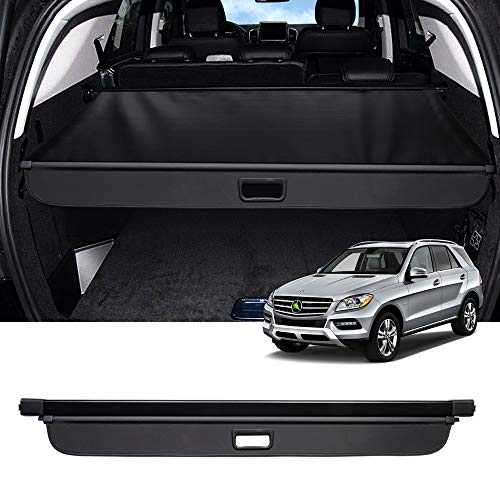 Powerty ML Series ML350 Cargo Cover Rear Trunk Shade Retractable Trunk Shield Luggage Tonneau Security Cover for Mercedes Benz ML Series ML350 2006 2007 2008 2009 2010 2011 Black…
