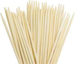 """L5.9"""" X Diameter 3/16"""" Candy Apple Corn Dog Stick Semi Pointed Bamboo Skewers/ Pack of 100"""
