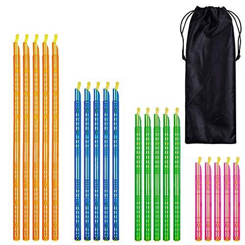 In Stock 8/16/20/24 piezas Magic Bag Sealer Stick Alimentos Bolsa Sellador Clip Fresh Lock Stick Hogar Cocina Almacenamiento Refrigeración Herramienta (Color: 20 PC)