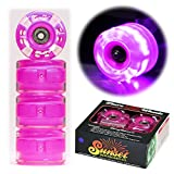 Best Wheels For Longboards - Sunset Skateboard Co. Purple 65mm 78a Round LED Review