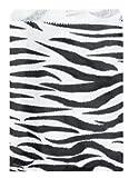 200 pcs Zebra Print Paper Gift Bags Shopping Sales Tote Bags 6' x 9'