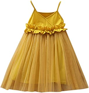 Toddler Kids Baby Girls Mesh Dress Party Gown Princess Tulle Tutu Dress