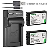 Kastar Battery (X2) & Slim USB Charger for Olympus BLS-1, PS-BLS1 and Olympus E-400, E-410, E-420, E-450, E-600, E-620, E-P1, E-P2, E-P3, E-PL1, E-PL3, E-PM1 Camera