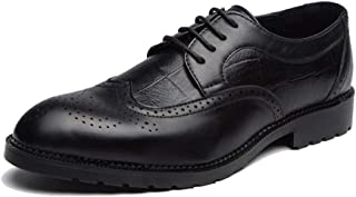 Men's Fashion Oxford Casual Classical Comfy Low Top Individuality Carving Brogue Shoes casual shoes (Color : Black, Size : 42 EU)