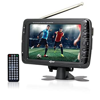 Axess 7-Inch AC/DC LCD TV with ATSC Tuner Rechargeable Battery and USB/SD Inputs TV1703-7