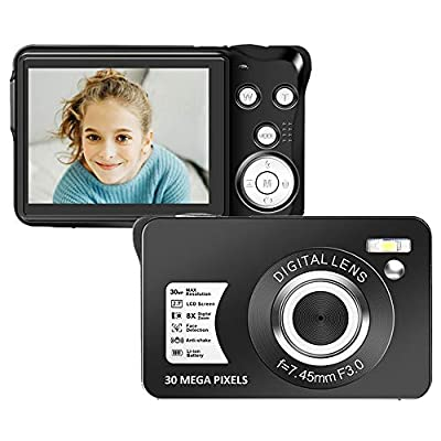 Digital Camera 2.7 Inch LCD Rechargeable HD Digital Camera Compact Camera Pocket Digital Cameras 30 Mega Pixels with 8X Zoom for Adult Seniors Students Kids by SEREER